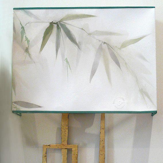 Aplique de Bamboo pintado a mano. Lo encontraras en Detana. Madrid