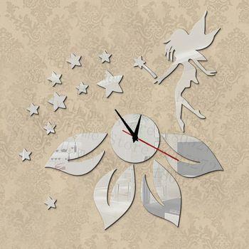 2015 New acrylique 3D effet miroir Wall Sticker Decal horloge mécanisme moderne mur miroir horloge grande décoration horloge murale bricolage Z012