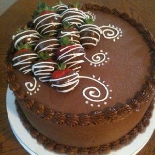 Fresh strawberry cake inside! Great combination