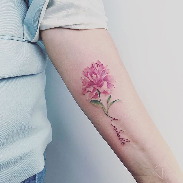 Lyubov Love Peony Peonytattoo Artist Goldfishtattoo With