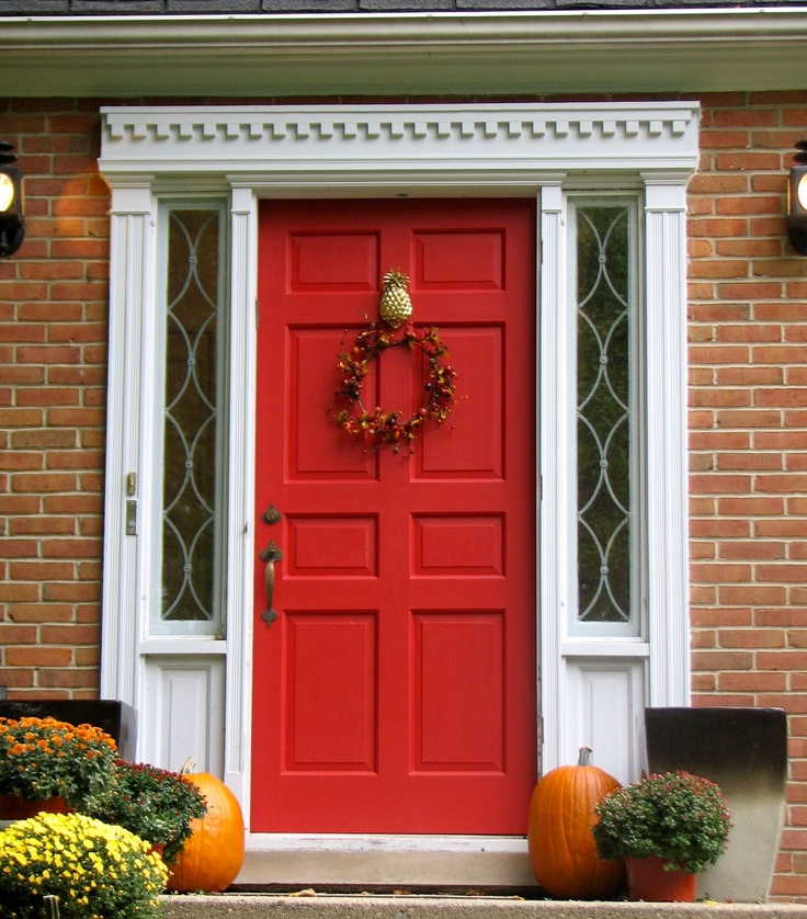 Front Door: BM Cottage Red Painting our door this color ...