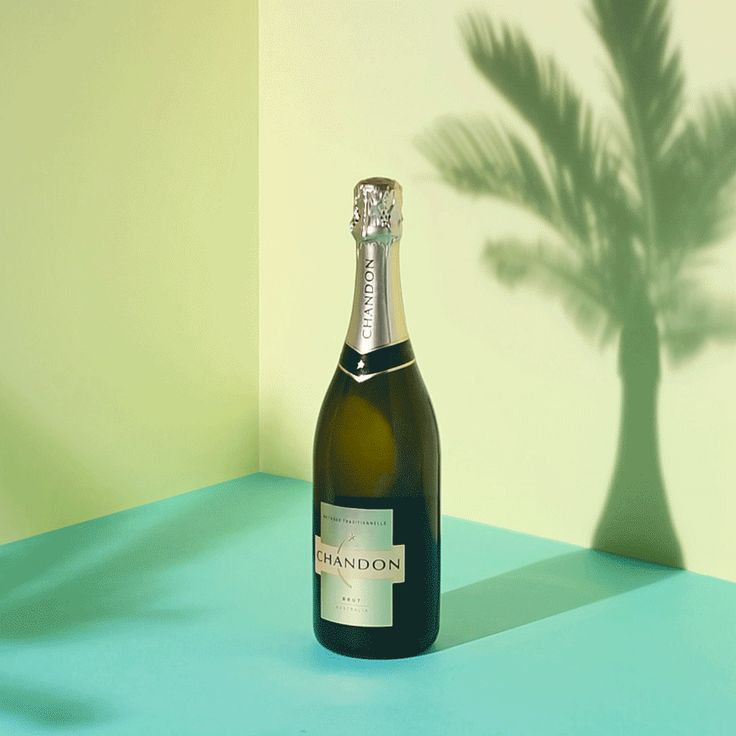 // ADVERTISING // Gif by @Davina Muller for Chandon #art #gif #chandon #cheers #champagne #palm #alcohol