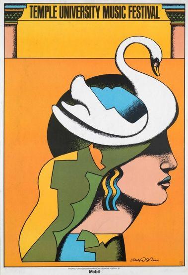 Milton Glaser | Store | Temple University Music Festival, 1975