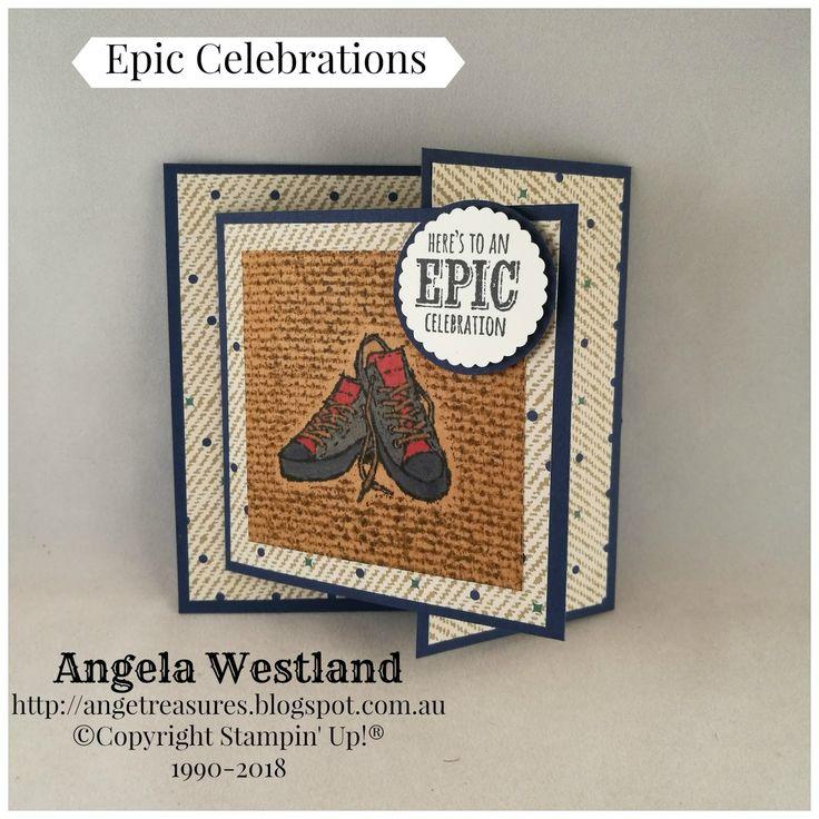 #epic salebrations #burlap # gatefold card #stampinup #male card #handmade cards #celebrations