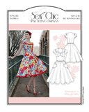 Paper sewing pattern to make a vintage inspired dress with close-fitting, fully lined bodice, cap sleeves and flared skirt. Condition This is a brand new and unused contemporary sewing pattern by an i