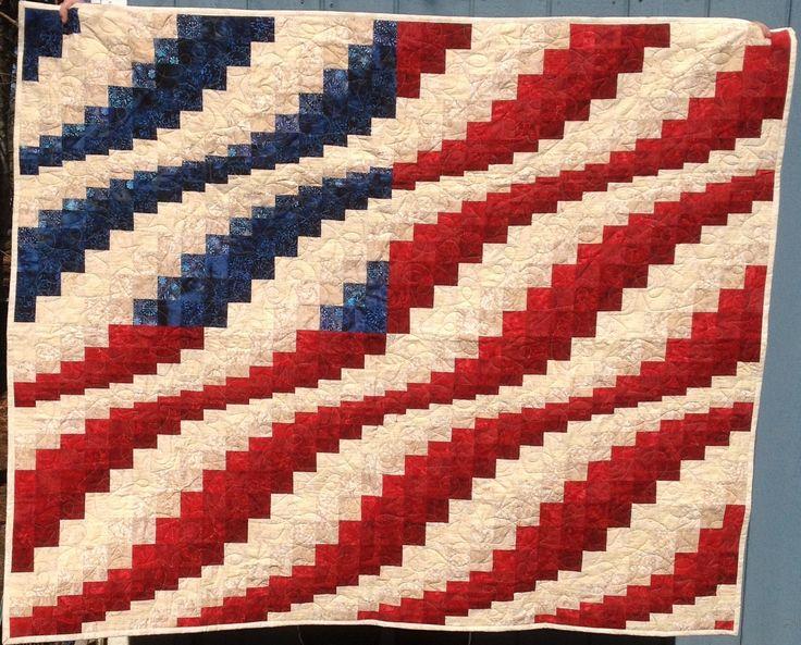 FLAG QUILT – Bargello Pattern | Sarah's Stash                                                                                                                                                      More                                                                                                                                                     More