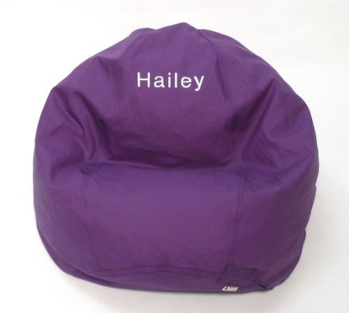 Bean Bag Chair Kid Size 20 Colors Personalized Monogram Embroidered Comfy 100 10