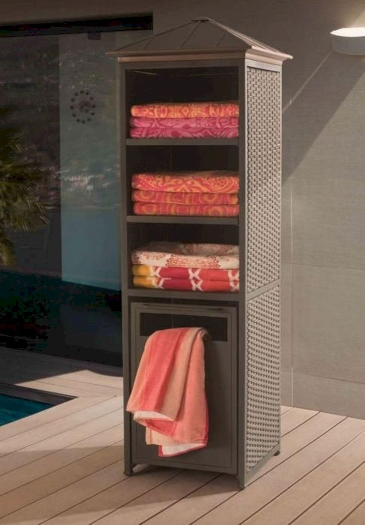 16 Awesome Pool Furniture Ideas Pool Towel Storage Pool