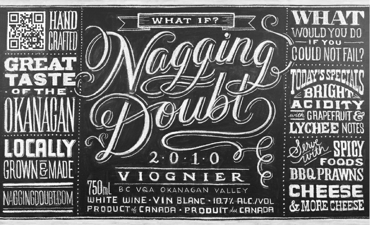 Wine label for Nagging Doubt Wines