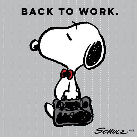 "Gefällt 62.2 Tsd. Mal, 1,962 Kommentare - Snoopy And The Peanuts Gang (@snoopygrams) auf Instagram: ""Here we go. #backtowork"""
