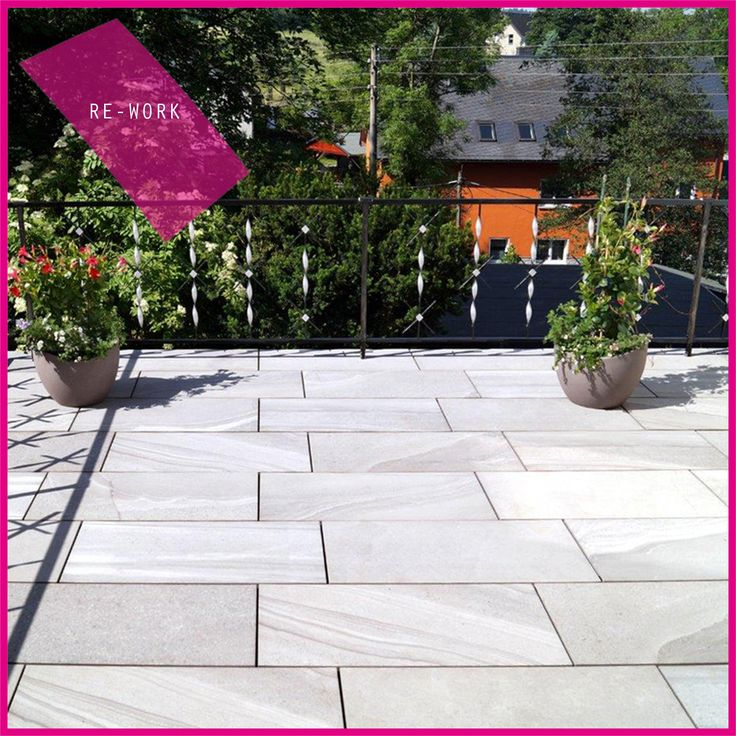 terrazzo con la nostra collezione re work terrace with our re - Matchstick Tile Garden Decoration