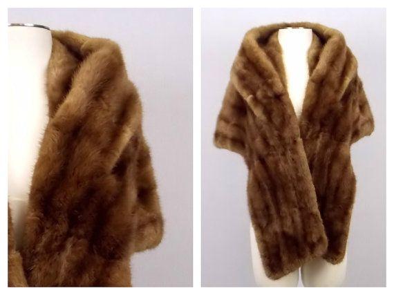 Fourrure de Salon vison vison brun foncé Capelet - col fourrure Bolero - Eaton volé ★ Era : vers les années 1950    ★ Label/Designer :