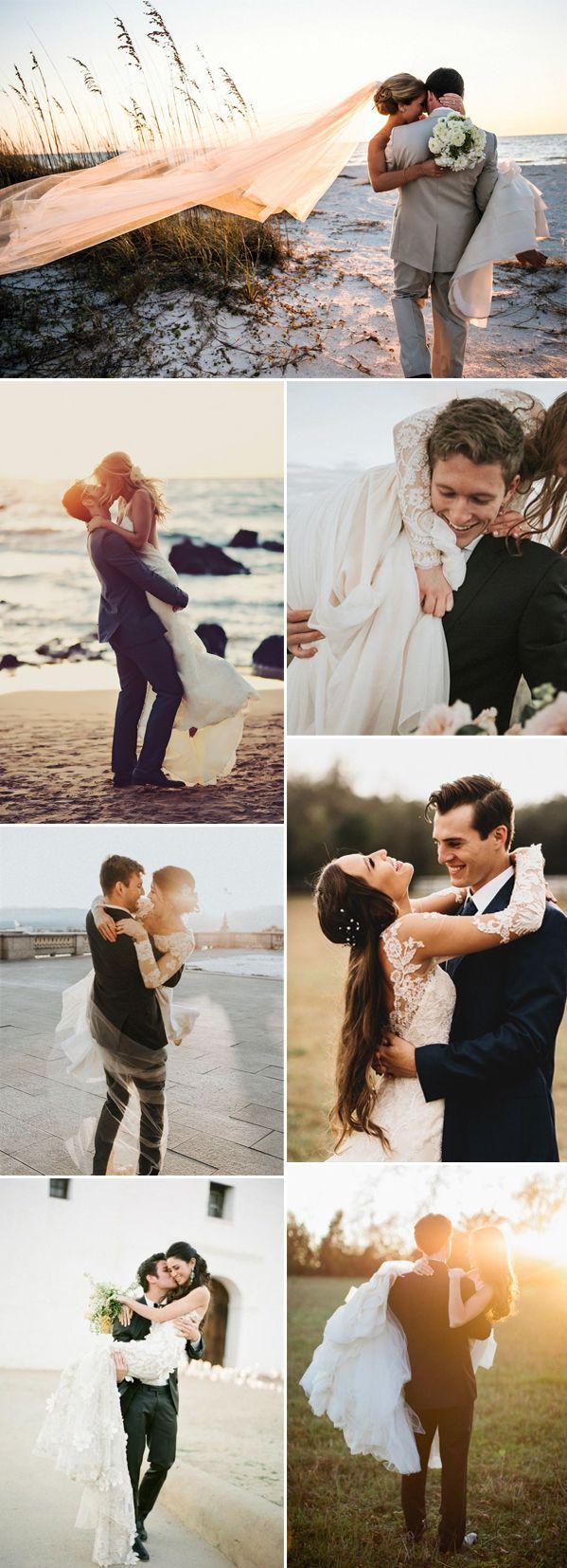 attractive wedding photos  that bridegroom put up the bride