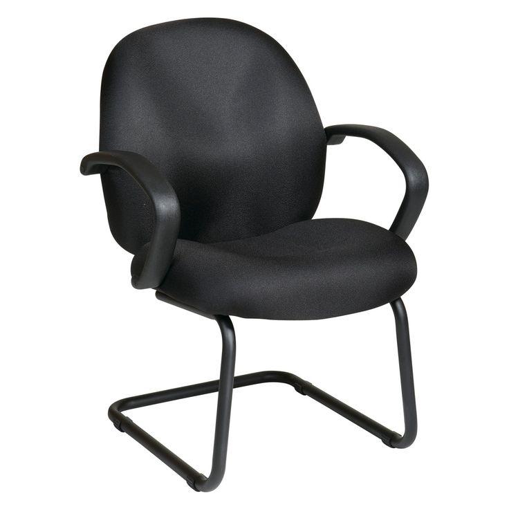 Work Smart Black Fabric Office Guest Chair - EX2655-231