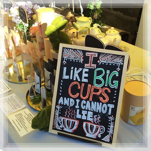 We do! The more the merrier actually! #bigcups ☕️☕️☕️ Rocking it @paddingtonmarkets - - - #tea #organictea #tastekaleidoscope #tastek #tasteK #sirmixalot #paddingtonmarkets