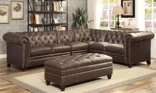 Coaster Furniture Roy Collection Bonded Leather Match Sectional Sofa 500268-Set
