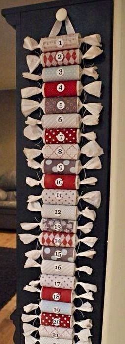 Advent calendar made from bonbons