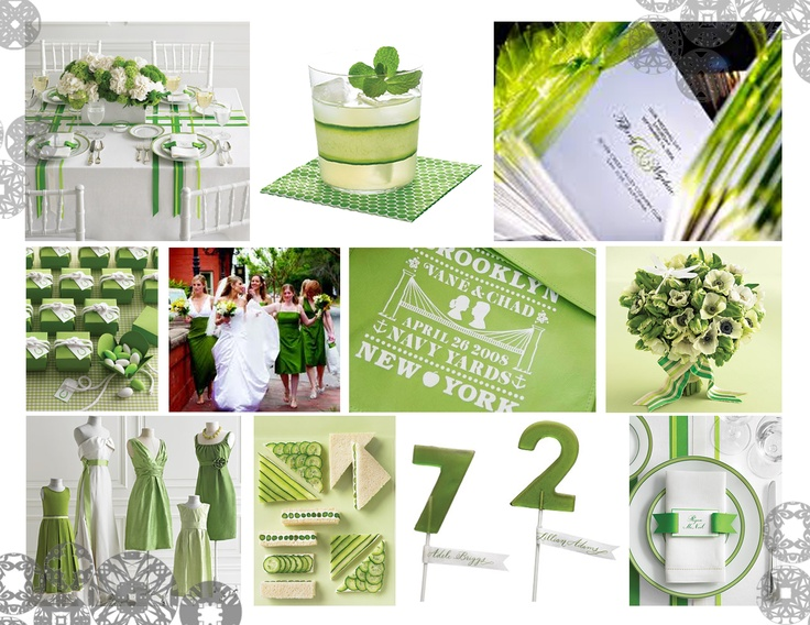 2013 Green and White Colour Trend