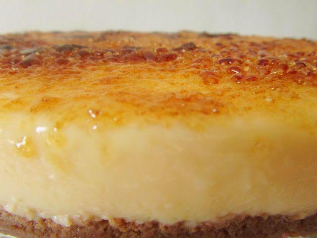 Receta de tarta de crema catalana con Thermomix