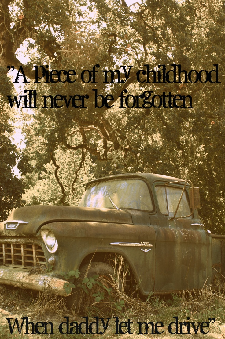 Funny, both my Momma and Daddy had an old step side truck....sat in the woods for awhile like this too as the years went by :)