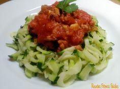 Recetas Fitness Fáciles: Espaguetis de calabacín a la boloñesa (sin carbos)
