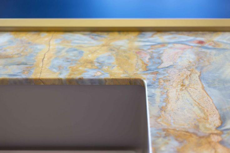 Island top in Siena marble #sienamarble #marble #millenove89 #kitchen #kitchenisland #design