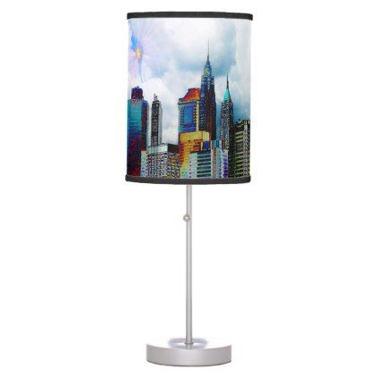 Manhattan Skyline Table Lamp - create your own personalize
