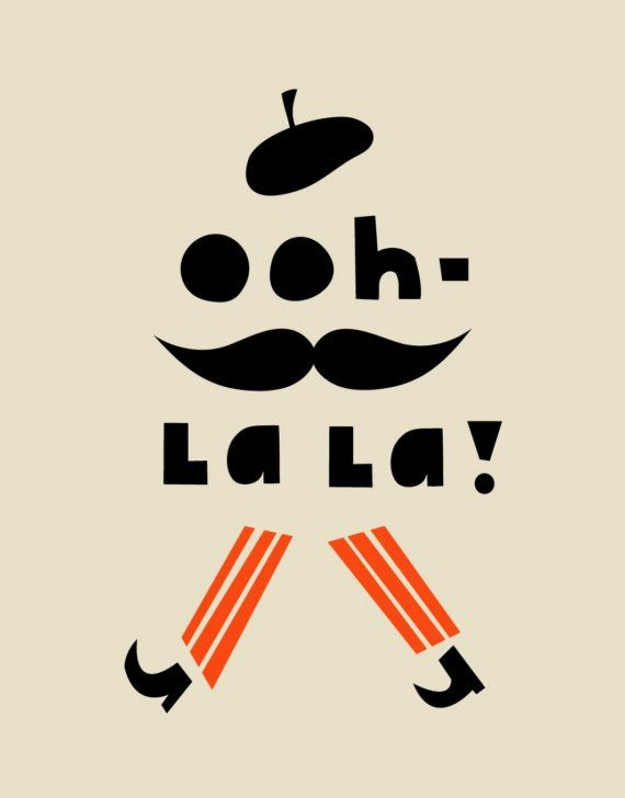 Ohh La La Tea Towel. By Darling Clementine, Norwegian design duo Ingrid Reithaug and Tonje Holand.