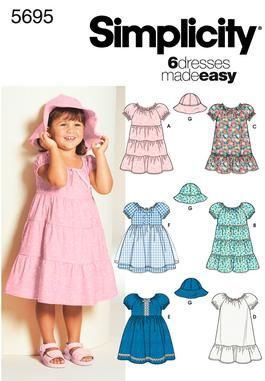 Toddler Dresses Pattern by Simplicity. May have to invest in this to make the Disney Dress-up Dresses