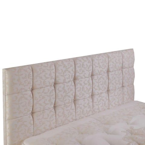 Relyon Deep Buttoned Extra Height Wide Superking Headboard - could have sth similar for our bed