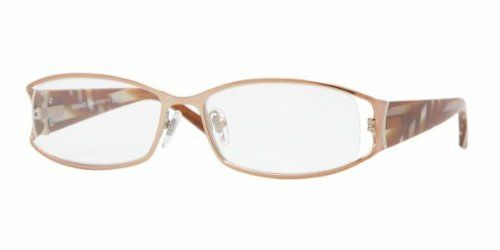 VERSACE 1162 EyeGlasses. TrendToGo proudly offer to you these 100% Authentic Designer: VERSACE 1162 1052 Eyeglasses Color Code: 1052, Model #: 1162, Size: 0 x 0 x 0, Authenticity: 100% Authentic, Color: clear/light brow, Brand: VERSACE, Prescription: available.