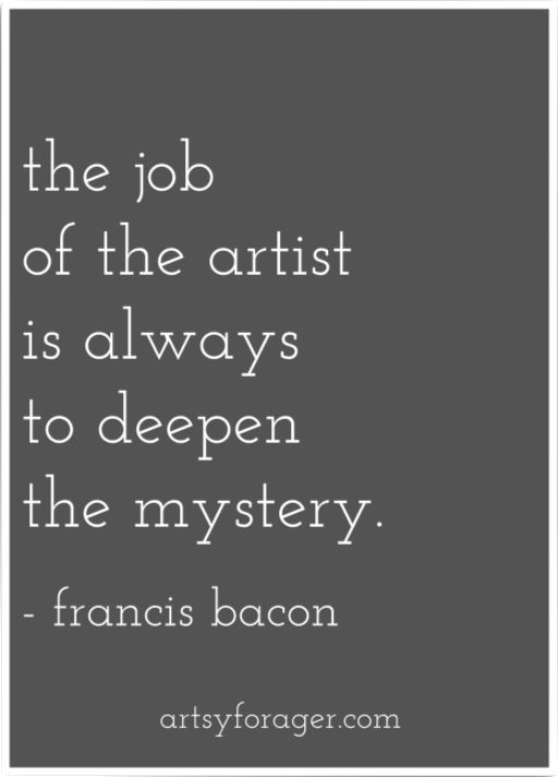 I couldn't disagree more. Each artist has his or her own purposes. For many, the goal is to bring greater understanding, not less.