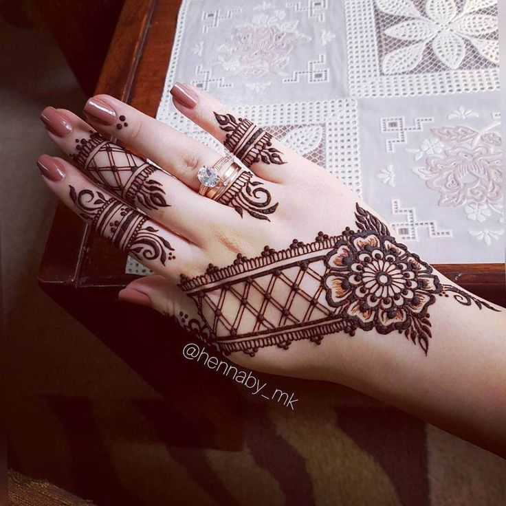 latest modern unique mehndi design image hennaby_mk
