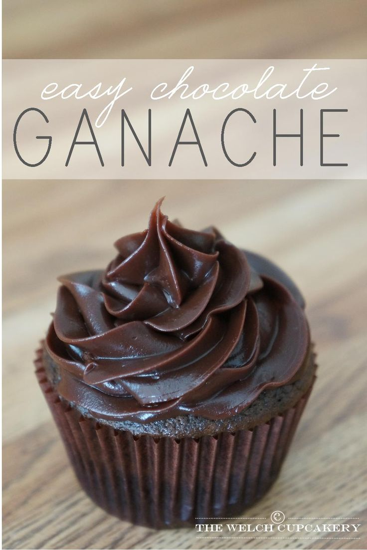 Easy Chocolate Ganache recipe via The Welch Cupcakery