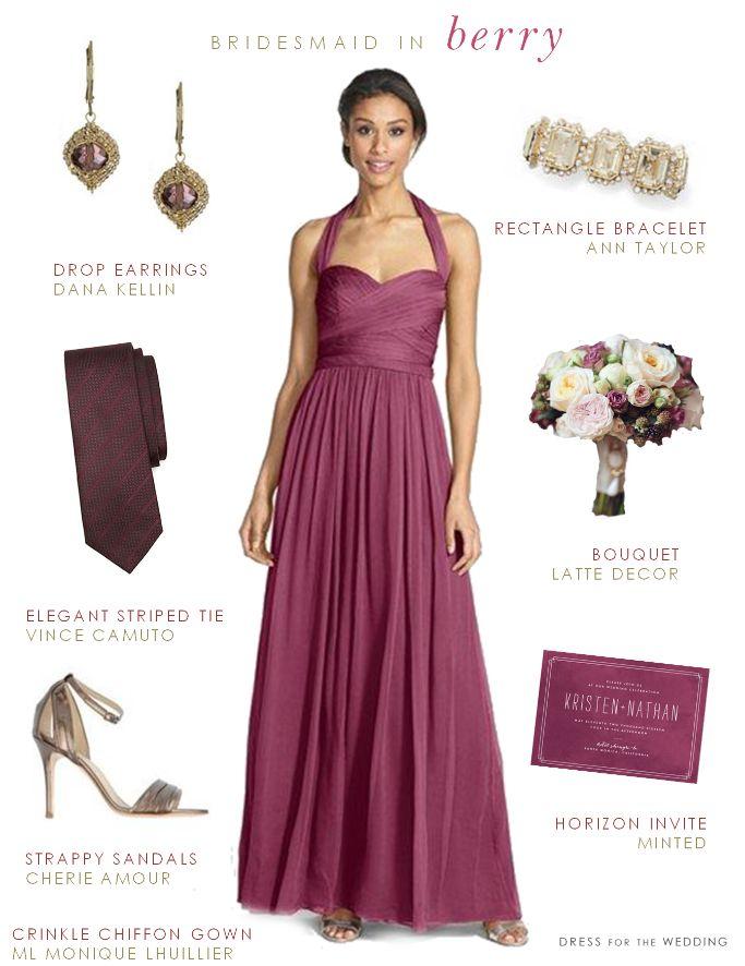 Berry Bridesmaid Dress via @dressforwedding