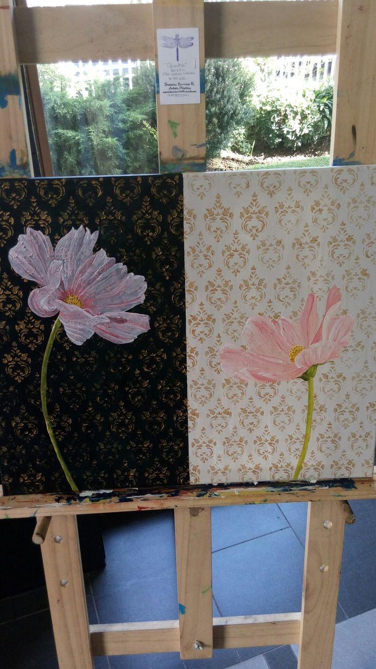 """Flores en Oleo 60x 50 """"Opuestos"""" #artesupa"""