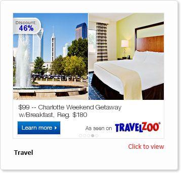 Adacado TravelZoo ad