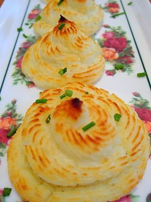 Ducess Potatoes - swirled twice baked mashed potatoes