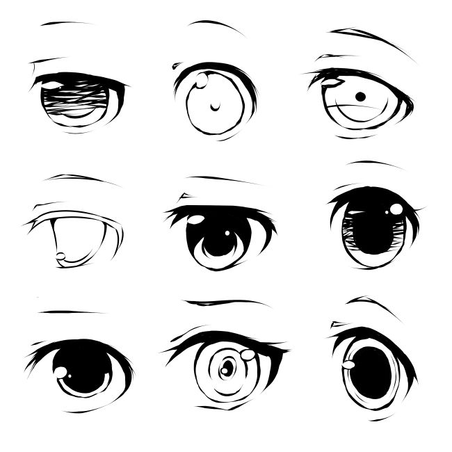 Cartoon Character Design Eyes : Best eye reference images on pinterest