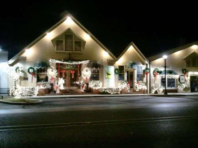 The Gift Horse restaurant, as decorated for Christmas. Foley ...