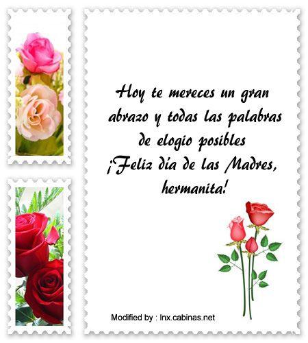 mensajes de texto para el dia de la Madre,palabras para el dia de la Madre: http://lnx.cabinas.net/mensajes-a-hermana-por-dia-de-la-madre/