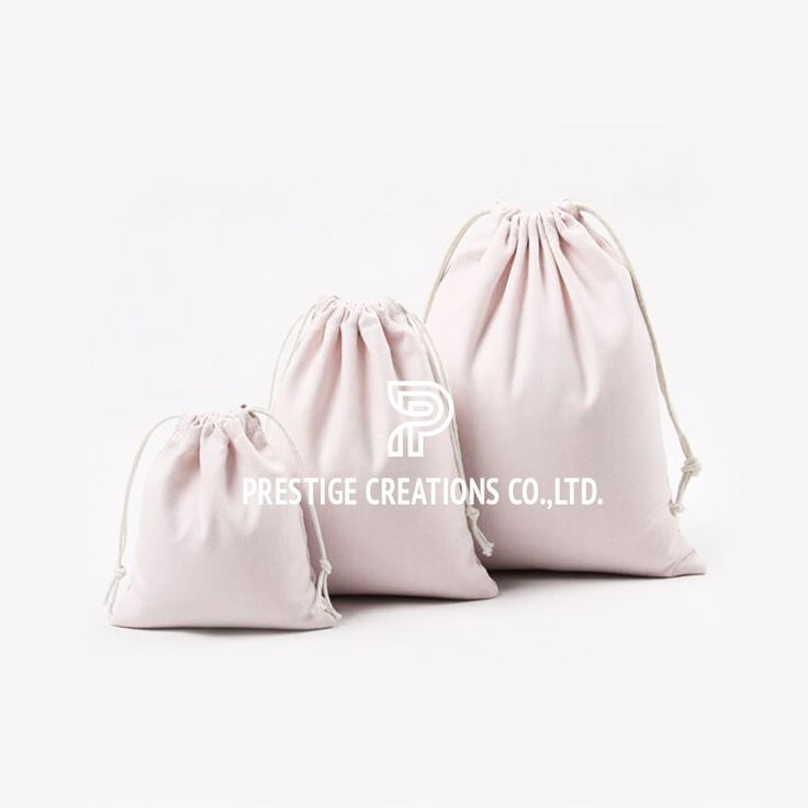 Cotton Drawstring Bags From Thailand Made With 100% Cotton Textiles
