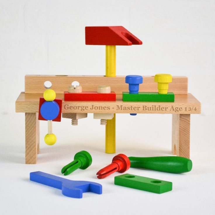 #Personalised traditional wooden toy work bench makes a lovely keepsake as well as a toy