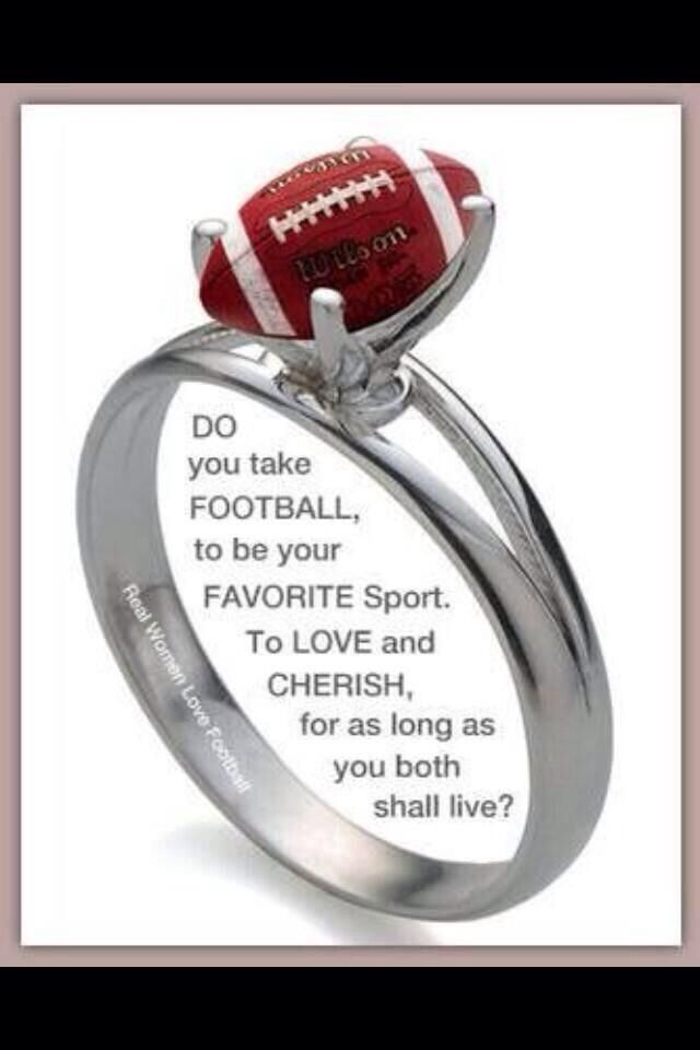 Football ring! Love this! I need this!!