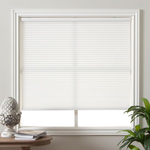 The cordless shades provide privacy but still allow the glow of the sun. Honeycomb cells trap air and are excellent insulators.