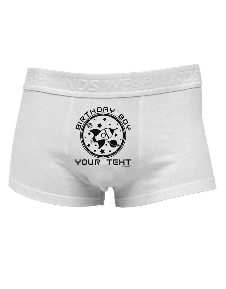 TooLoud Personalized Birthday Boy Space with Customizable Name Mens Cotton Trunk Underwear