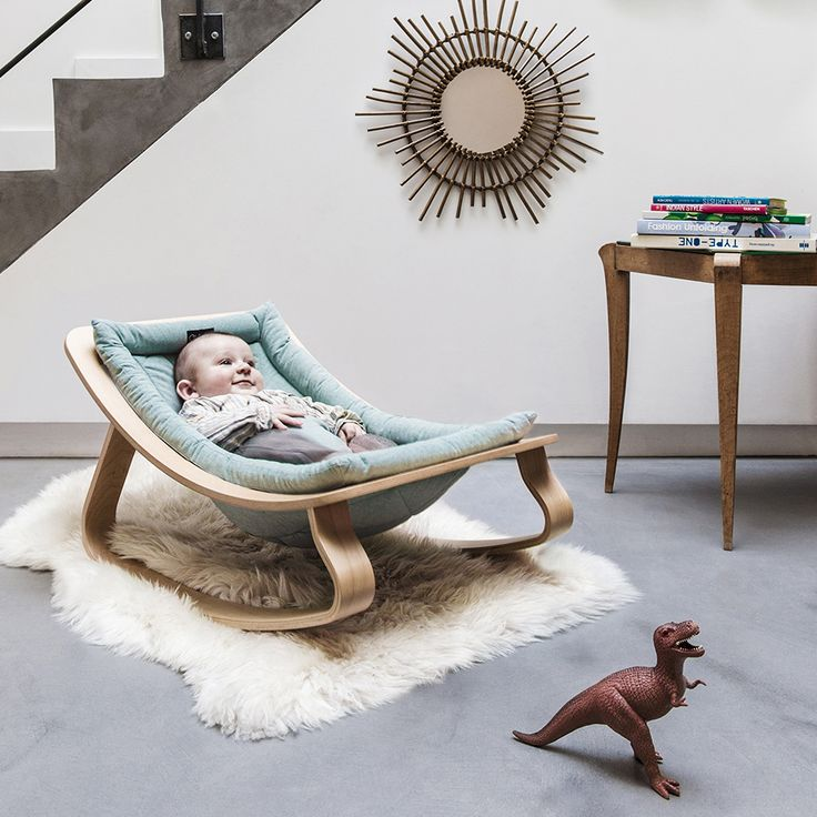 Baby Rocker LEVO in Aruba Blue with André. Photo: (c) Louise Desrosiers