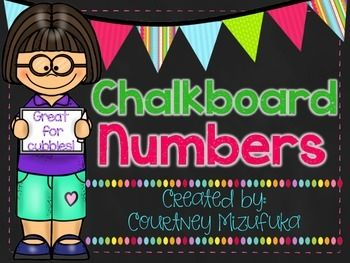 "These chalkboard numbers were created to label student cubbies in my classroom. They measure approximately 3"" by 3"".Other uses for these numbers could be for a calendar, labeling student supply boxes, student desks, etc. There are 36 cards."