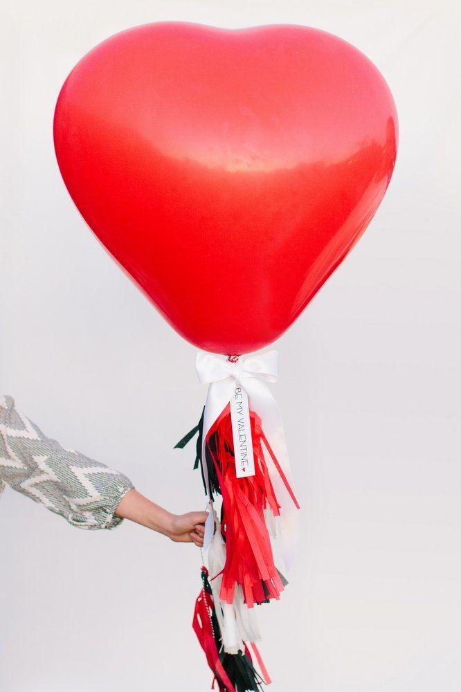 DIY Giant Heart Balloon with Tassels