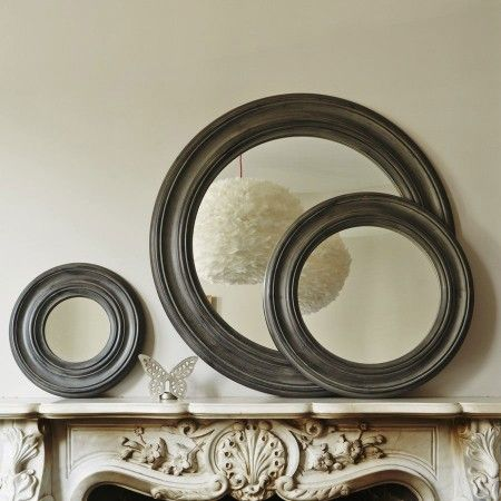 Grey Porthole Mirrors - Round & Oval Mirrors - Mirrors